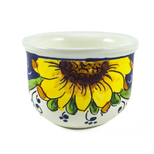 Borgioli - Sunflower on Blue - Espresso Cup