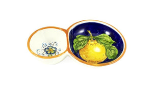 Borgioli - Lemons on Blue Olive Dish