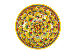 "Sberna Peacock Yellow Serving Bowl - 30cm (12"")"