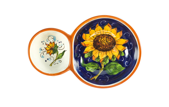 Borgioli - Sunflower on Blue - Olive Dish