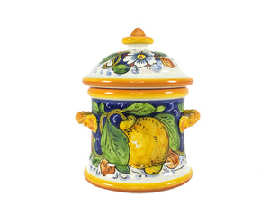 Borgioli - Lemons on Blue - Small Canister