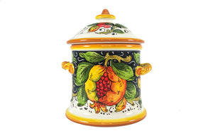 Borgioli Pomegranate on Black Medium Canister