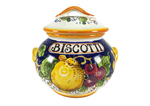 Borgioli - Mixed Fruits - Small Biscotti Jar