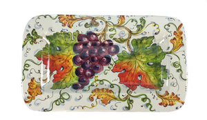 "Borgioli Grapes Rectangular Platter - 34cm x 20cm (13.4"" x 7.9"")"