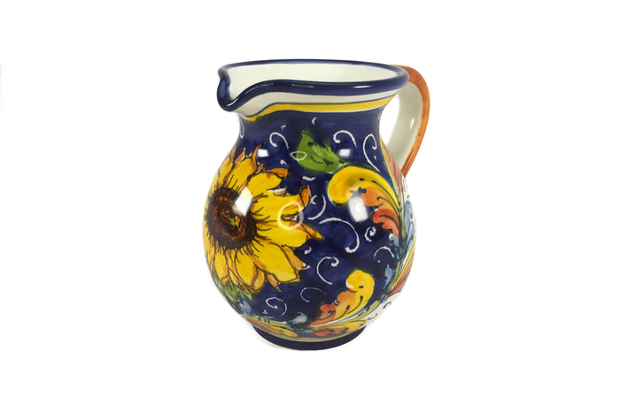 Borgioli - Sunflower on Blue - 250ml Pitcher (8.5 fl oz)