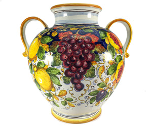 Borgioli Mixed Fruits Round Vase