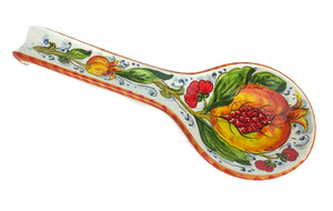 Borgioli - Pomegranates on White - Spoon Rest