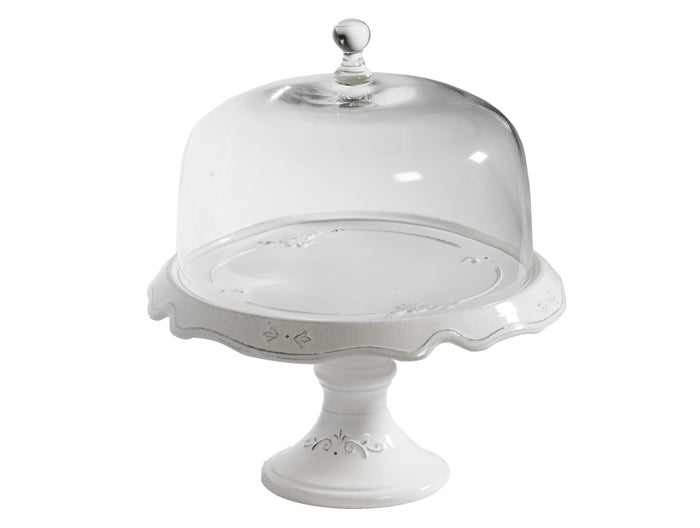 Convito - Large Cake Stand with Glass Dome