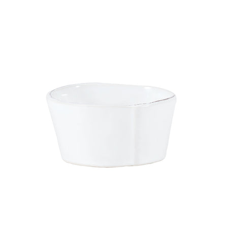 Lastra Condiment Bowl in White