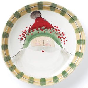 Old Saint Nick Large Shallow Serving Bowl