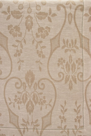 Damasco Rustica Tablecloth - Ivory