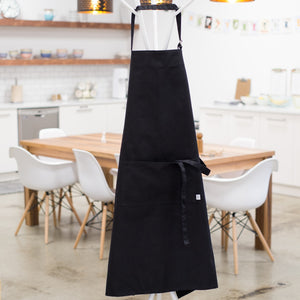 Black Mighty Chef Apron (Extra Large)