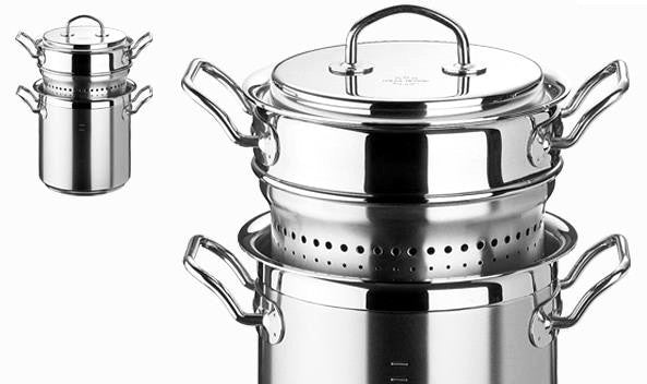 "Silga Teknika 8.5 L (9Qt) Stainless Steel Pasta Pot with Insert 24cm (9.5"")"