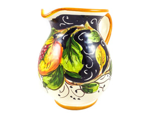 Borgioli - Pomegranates on Black - 250ml Pitcher (8.5 fl oz)