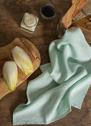 Toronto Sea Foam Green Linen Tea Towel