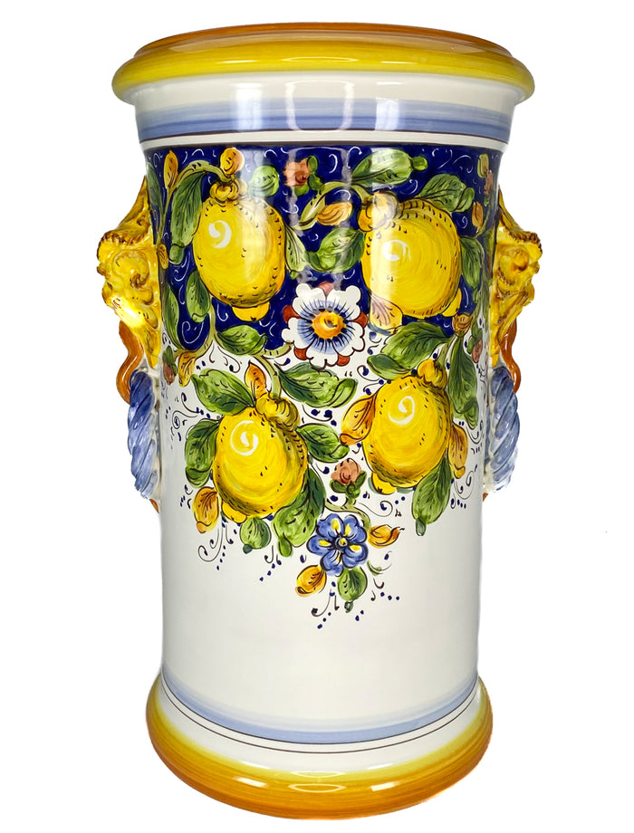 Borgioli - Lemons on Blue Umbrella Stand