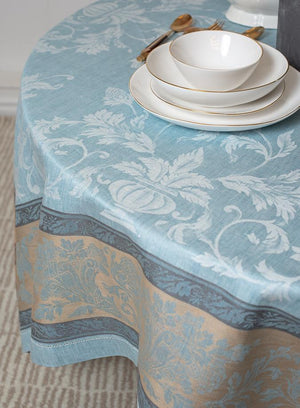 Versailles Ash Blue - Ivory - Taupe