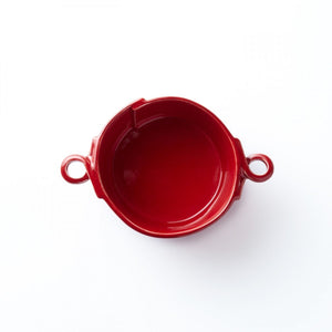 Vietri Lastra Small Handled Bowl in Red