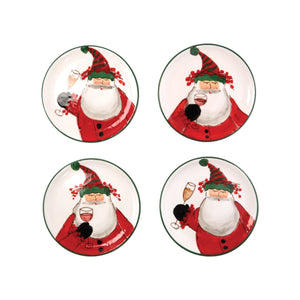 Old Saint Nick Cocktail Plates - Set of 4