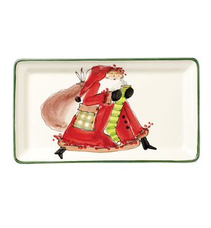 Old Saint Nick Rectangular Platter