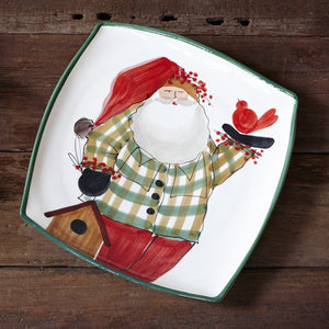 Old Saint Nick Square Serving Platter