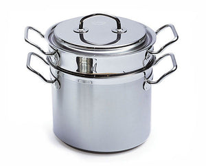 Silga Teknika World's Best Stainless Steel Cookware Pasta Pot with insert - 10.5 Litres