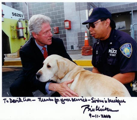 Bill Clinton with Sirius