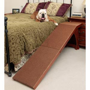 Solvit Wood Bedside Dog Ramp for Bed Play Safe Pet Stairs