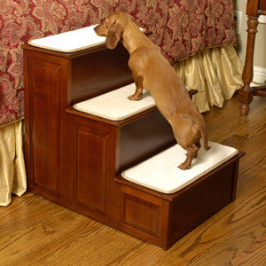 Dog steps for high beds