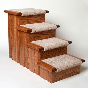 Premier Pet Steps Raised Panel 4-Step Carpet Tread