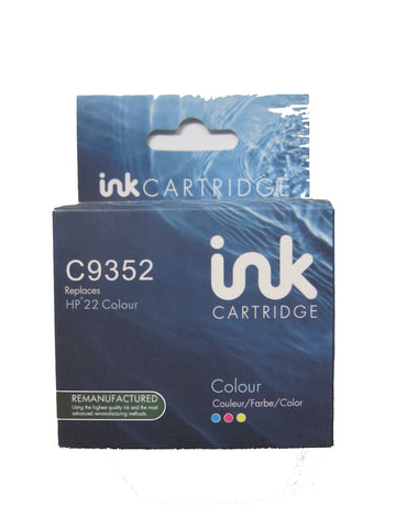 Remanufactured HP 22XL Tri Colour Ink Cartridge C9352CE