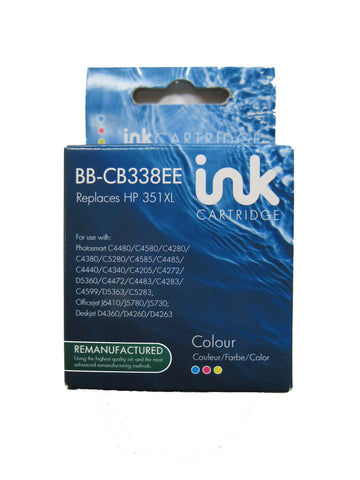 Remanufactured HP 351XL Tri Colour Ink Cartridge CB338EE