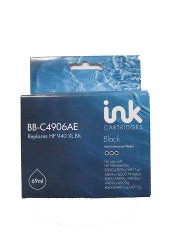 Remanufactured HP 940xl Black Ink Cartridge C4906AE