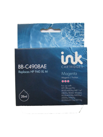 Remanufactured HP 940XL Magenta Ink Cartridge C4908AE