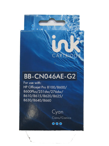 Remanufactured HP 951XL Cyan Ink Cartridge CN046AE