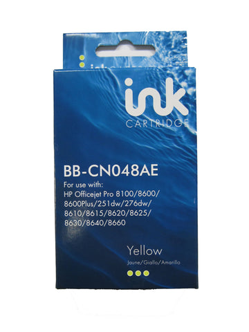 Remanufactured HP 951XL Yellow Ink Cartridge CN048AE