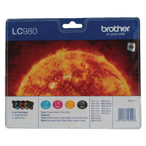 Brother LC980 Multipack Blk,Cy,Mag,Yell