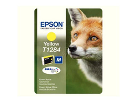Epson T1284 Yellow Ink Cartridge Fox C13T12844011