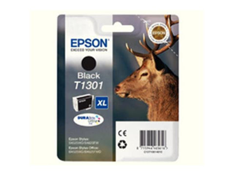 Epson T1301 Black Ink Cartridge Stag C13T13014010