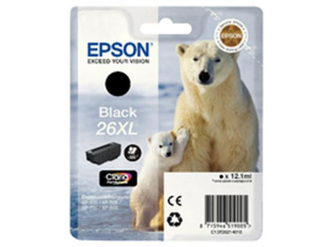 Epson 26XL T2621 Black Ink Cartridge Polar Bear C13T26214010