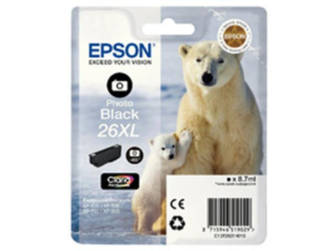 Epson 26XL T2631 Photo Black Ink Cartridge Polar Bear C13T26314010