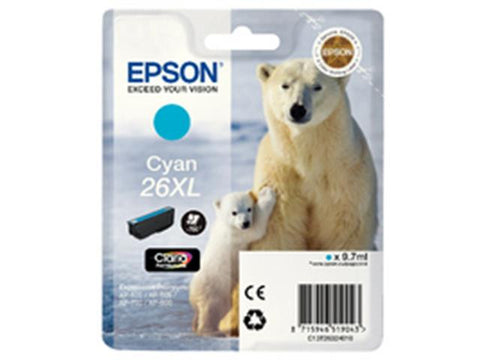Epson 26XL T2632 Cyan Ink Cartridge Polar Bear C13T26324010