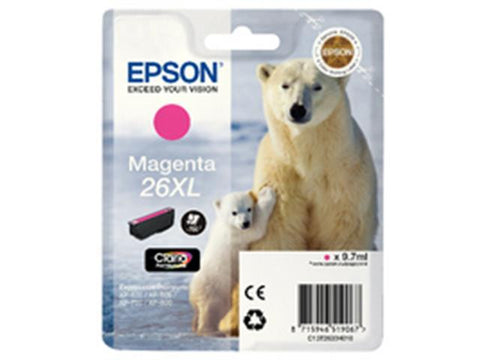 Epson 26XL T2633 Magenta Ink Cartridge Polar Bear C13T26334010