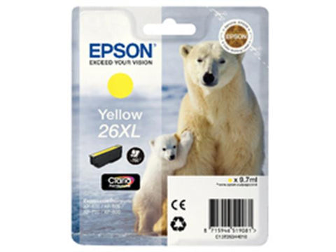 Epson 26XL T2634 Yellow Ink Cartridge Polar Bear C13T26344010