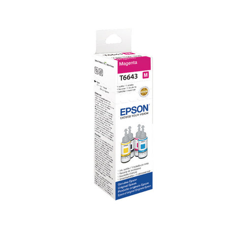 Epson T6643 664 Magenta 70ml Ink Bottle C13T664340 T6643