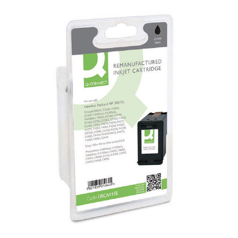 HP 300XL Black Ink Cartridge OBC641EE Remanufactured