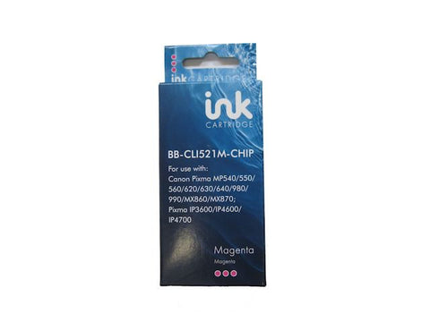 Compatible Canon CLI-521 Magenta Ink Cartridge 2935B001