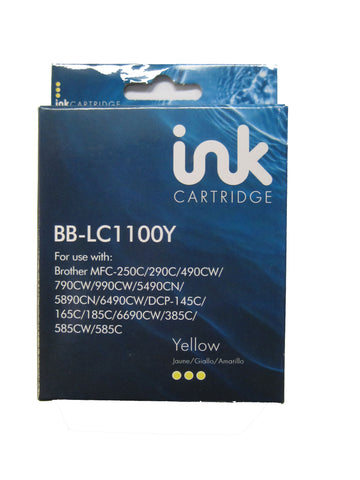 Compatible Brother LC1100Y Yellow Ink Cartridge