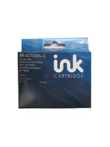 Compatible Brother LC125XL Cyan Ink Cartridge