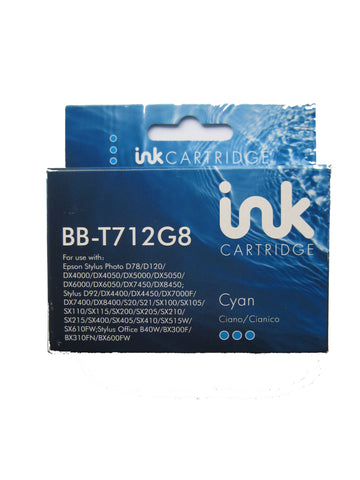 Compatible Epson T0712 Cyan Ink Cartridge C13T071240A0